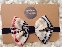 thanksgiving infant headbands plaid bow plaid baby headband burberry inspired black