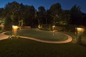 backyard putting green lighting sport and recreation outdoor lighting in chicago il outdoor accents