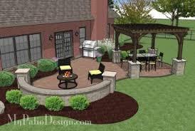 My Patio Design The Concrete Paver Patio Design With Pergola Features Collegeisnext