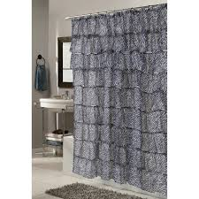 zebra bathroom ideas bathroom zebra print crushed voile ruffle curtains for bathroom