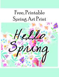 hello spring flower printable printables 4 mom