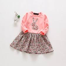casual easter 2017 toddler rabbit baby style dress casual