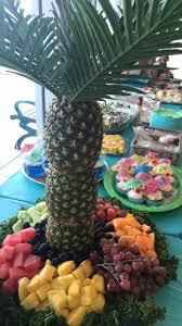 palm tree food centerpieces birthday cake ideas