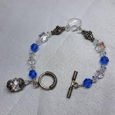 sapphire crystal bracelet images Bracelet 10mm clear swarovski cubes 8mm sapphire swarovski jpg