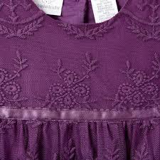 koala kids purple embroidered lace tulle dress babies