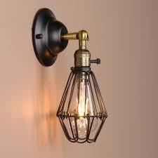 Vintage Sconces Black Wall Lamp Vintage Industrial Bird Cage Wall Light Antique