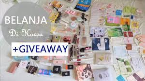 huge korean makeup haul giveaway almiranti fira youtube