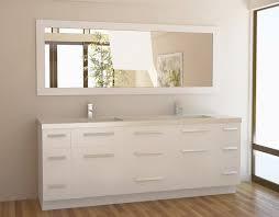 framing a bathroom mirror with moulding interior design ideas