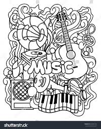 zentangle musical ornament coloring page relax stock vector