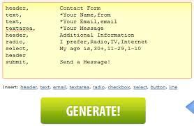 membuat form html online aplikasi gratis untuk membuat form html visitor chat widget shared
