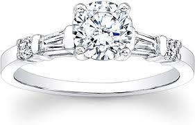 engagement rings with baguettes baguette brilliant cut engagement ring scs726