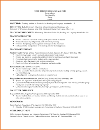 Sample Resume Objectives Teacher Assistant by Resume Objective Teacher Resume For Your Job Application