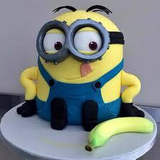 minions cake banana n bob minion cake 2kg chocolate gift minion 3d cake