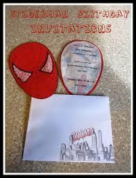 Spiderman Invitation Cards Spiderman Birthday Party Part 1 Invitations Tidbit Times