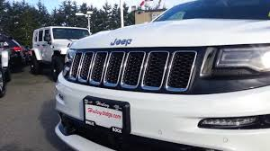 dodge jeep white 2014 jeep grand cherokee srt white youtube