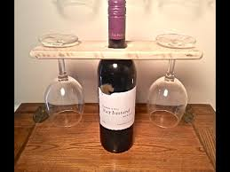 wood pallet wine glass and wine bottle display holder easy wood