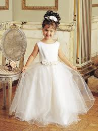 flower girl accessories floral floor length satin and tulle flower girl dress with