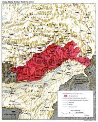 map china tibet india eastern border himalayan images