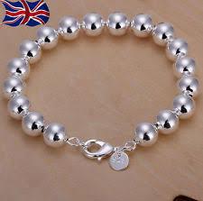 beaded bracelet sterling silver images 925 silver bead bracelet ebay jpg