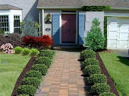Landscape Design Backyard Ideas by Landscape Outdoor Incredible Ideas For Front Of House With Red
