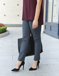 Comfortable Work Pants Gray Work Pants Perfect Layering Top Lady In Violetlady In Violet