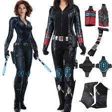 Avengers Halloween Costume Avengers Age Ultron Black Widow Cosplay Costume Custom