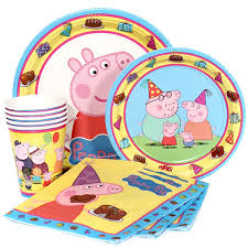 peppa pig party supplies peppa pig party supplies package for 8 at dollar carousel