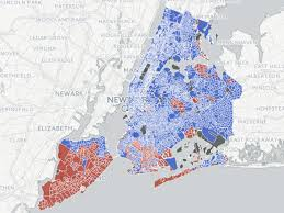New York Boroughs Map by Trump Vote In New York City Business Insider