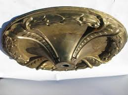 ceiling canopies for light fixtures huge victorian vintage brass ceiling medallion canopy for light