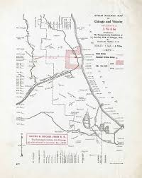 City Of Chicago Map by Steam Railway Maps Of Chicago 1848 1910