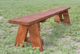 Round Redwood Picnic Table by Redwood Outdoor Picnic Bench Made With Extra Wide Boards