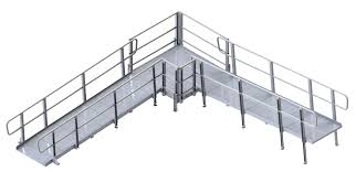 Wheelchair Ramp Handrails Pvi Modular Xp Aluminum Wheelchair Ramp With Handrails At