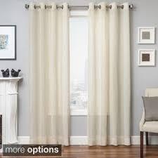 Sheer Curtains Grommet Top Softline Cambridge Faux Linen Grommet Top Curtain Panel Free