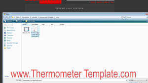 how to make a thermometer template poster youtube