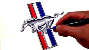 mustang logo how to draw the ford mustang logo