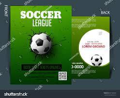 soccer event flyer template eps10 football stock vector 681795823