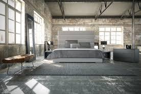 modloft prince 5 piece dusty grey leather platform bedroom set modloft prince 5 piece dusty grey eco leather platform bedroom set
