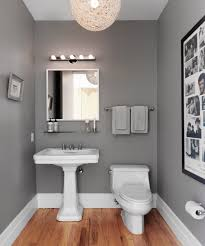 Powder Room Decorating Ideas Contemporary Grått Badrum Lampa Egendesignad Av Lägenhetsinnehavaren Rooms