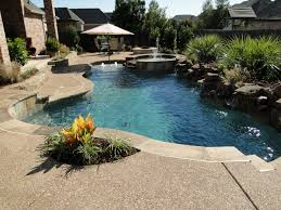 Backyard Pool With Lazy River by Classic Pools Stunning In Ground Swimming Pool Boulder Waterfalls