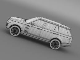 range rover drawing range rover autobiography lwb l405 2014 by creator 3d 3docean