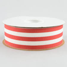 gross grain ribbon 1 5 white striped grosgrain ribbon 25 yards 25103 065