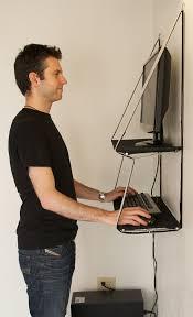 standing computer desk above mcdonley gets to work stand up desk
