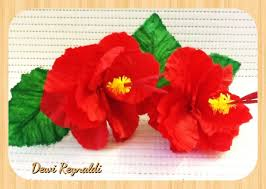 cara membuat bunga iris dari kertas origami diy how to make hibiscus paper flower for room gift box