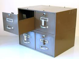 2 stackable lockable metal file cabinets grey green 30s