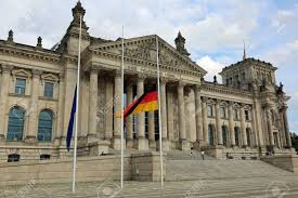 German Flag Meaning Reichstag Building Is Parliament Of Germany In Berlin With Huge