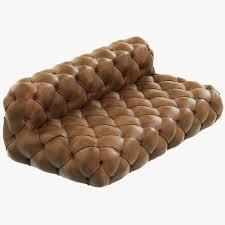 Tufting Sofa by Restoration Hardware Soho Tufted Leather Armless Sofa 3d Model Max