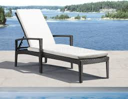 Modern Patio Lounge Chair Black White Modern Outdoor Bathing Lounge Chair