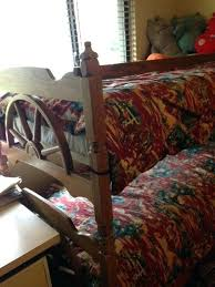 twin bed frame on wheelvintage wooden western wagon wheel bunk bed