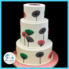 mid century modern 70th birthday cake blue sheep bake shop
