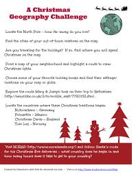 christmas geography activity free